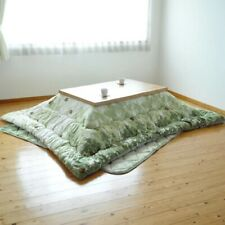 Kotatsu Cover Futon Rectangle 185×185 Green Leafy Made In Japan New Authentic