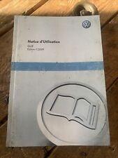 Manuel Notice D Utilisation Volkswagen Golf