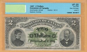 Dominion of Canada $2 1887 DC-11 CCCS-20 Very Fine Letter C VF Banknote