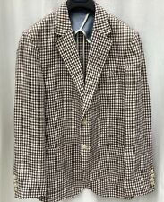 Hackett linen houndstooth blazer. Unlined. 2 button. 42 reg