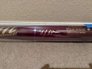 """Miguel Andujar Signed 34"""" Marucci Pro Bat Autographed Steiner & Beckett Yankees"""