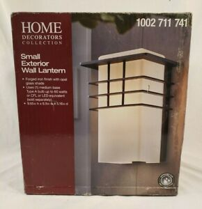 NIB Home Decorators Collection 1-Light Forged Iron Outdoor Wall Lantern