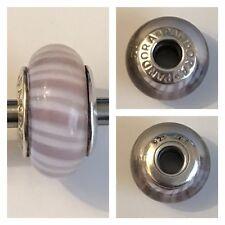 Pandora Lavanda Candy Stripe vetro ciondolo ref 790681 925 ALE ora FUORI PRODUZIONE