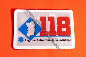 PATCH 118 SARDEGNA SU STRAP SCUDETTO STACCABILE TOPPA RIFRANGENTE UHF REFLEXITE