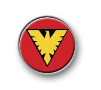 "PHOENIX / 1"" / 25mm pin button / badge / Marvel / Jean Grey / Stan Lee / X-Men"