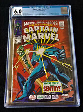 Marvel Super-Heroes #13 CGC 6.0 1st app Carol Danvers Captain Marvel OW/W pgs