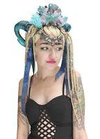 Burlesque Mermaid Dreaded Rams Horn Festival Headdress Headband Crown Gobbolino