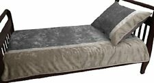 Baby Doll Bedding Crocodile Toddler Bedding, Silver