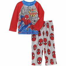 NEW NWT Boys Spider-man Pajamas Size 3T Toddler Thermal Fleece 2 Piece Set
