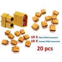 10Pairs XT-60 XT60 Male Female Bullet Connectors RC Lipo Nylon Power Plugs D7A7