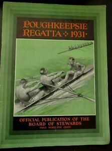 Poughkeepsie Regatta 1931 Program / College Crew Photos Columbia Cornell Navy ++