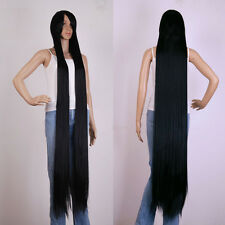 "60"" black Extra Long Cosplay wig Cosplay Party Costume Anime Hair full wig 150cm"