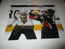 Vegas Golden Knights WILLIAM CARRIER Signed 8x10 Photo GOLD
