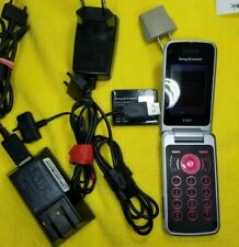 Sony Ericsson T707 T707a Flip Cell Phone 3G Gsm Unlocked Tmobile At&T + bundle