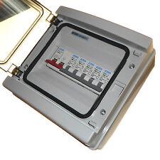 Weatherproof Consumer Unit 6 Way 100 Amp Isolator Switch 100A + Choice of MCB
