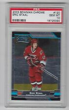 2003-04 BOWMAN CHROME ERIC STAAL RC PSA GEM 10 ROOKIE #120 Hurricanes 18725394