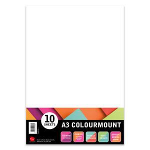 A3 Colourmount 10 sheets of White 1250 Micron Mounting Board photography