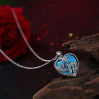 Silver sterling  Family Marcasite   Turquoise Heart Necklace Pendant