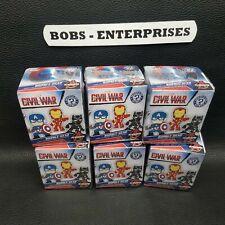 Funko: Mystery Minis - Marvel - Captain America: Civil War   - Lot of 6 E-LOT-4