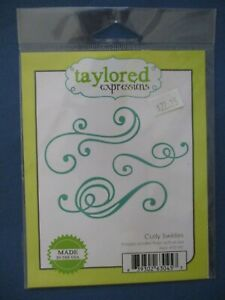 Taylored Expressions Curly Swirlies die set; flourishes