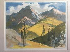 "Louie Ewing  ""Lodge Pole Pine""  Serigraph  35/125"