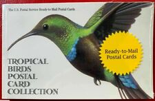 Us Tropical Birds Ux289a 20c Postal Card Booklet of 10