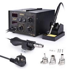 852D+ Fer à Souder 2 en 1 Air Chaud Station de Soudage numérique SMD 100 - 480°C