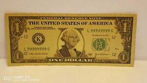 T1, New Style Collectable USA One Dollar Gold plated Banknote