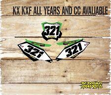 KAWASAKI KXF KX 65 85 125 250 Pegatinas de gráficos placas de número 450-Calcomanías-Split