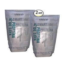 2pk USANA My Smart Shake Base Vanilla 18g Soy Protein 4g Fiber Gluten Free Drink