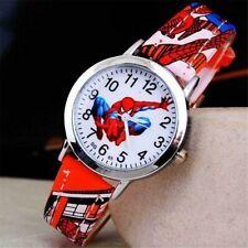 Children Spiderman Wrist Watch Cartoon Quartz Boys Red Christmas Birthday Gift