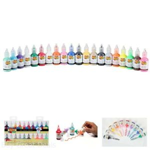 3D Fabric Paint 1Oz 20 Pack Colors Dimensional Puffy Iridescent Craft Assortment