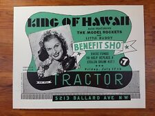 King of Hawaii 1998 Tractor Tavern Chicago Poster by Art Chantry Signed