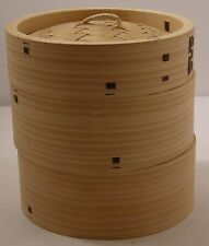 "Bamboo steamer 3pcs 30cm/12"" dia Superior quality"