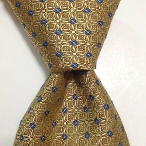 ROBERT TALBOTT Best of Class Silk Necktie ITALY Luxury Geometric Yellow NWT $155
