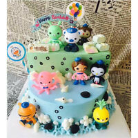 NEW 8pcs The Octonauts PVC Action Figure Toy Model Doll Kids Gift Cake Decor