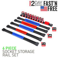 86 Socket Organizer Storage Rail Rack Holder Industrial ABS Mountable 1/4 3/81/2