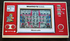 Nintendo GAME & WATCH MARIO'S CIMENT FACTORY : cache-piles & N° série OK !!
