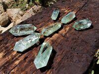NATURAL PRASIOLITE GREEN QUARTZ CRYSTAL DOUBLE TERMINATED HEALING GEMSTONE