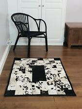 Handmade Cowhide Patchwork Rug / Beautiful Hair-On Carpet -Rare & Unique