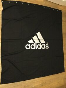 Adidas hanging banner. 5ft x 5 ft. 152cm x 152 cm. black / silver.