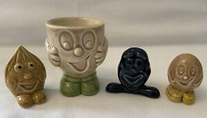 4 x Wade Cadbury World Items. Egg Cup, Whimsie Hazelnut, Raisin & Chuckle Bean