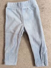 GAP SKY BLUE FLEECE JOGGERS WITH LITTLE ZIPS AT THE ENDS - AGE 18-24m BNWT