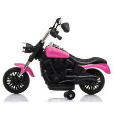 Kids Ride on Toy 2 Wheel Motorcycle with Trainer Wheels Battery Operated Pink