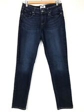 Paige Womens 27 Kylie Crop Skinny Jeans Deep Purple Dark Wash Low Rise Stretch
