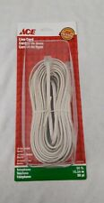 50ft Telephone Phone Line Cord 4-Conductor Ivory