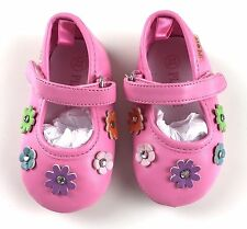 Children's Place Mary Jane Pink Shoes 3 6 months Baby Girl Flowers Rhinestone