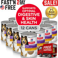 Hill's Science Diet Canned Wet Dog Food Adult Sensitive Stomach & Skin 12 CANS