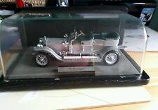 Franklin Mint 1907 ROLLS - ROYCE SILVER GHOST In Wood/ Perspex Display Case