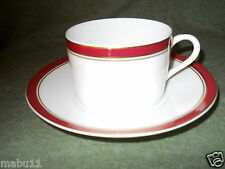 RAYNAUD CERALENE DIPLOMATE DIPLOMAT RED CUP AND SAUCER SET